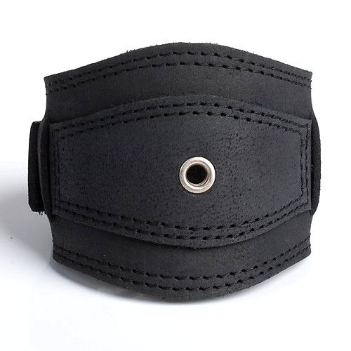 RINGLET   Black or Brown Leather Wristband