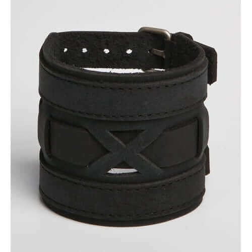 EXONERATED EGO | Black or Brown Leather Wristband