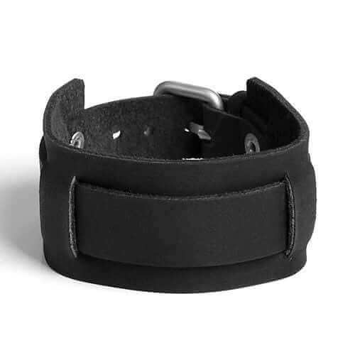 RAPT NARROW | Black Leather Wristband