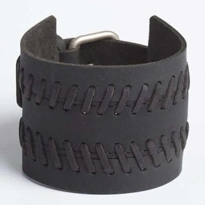 TREAD THREAD | Black or Brown Leather Wristband