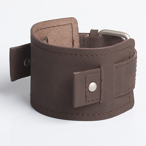 Envy Brown leather wristband