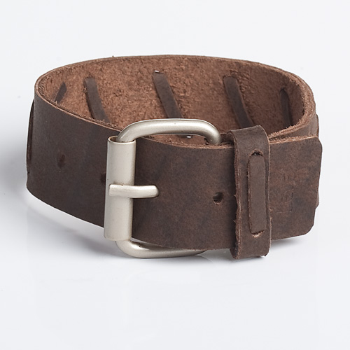 ROUTE | Brown Leather Wristband