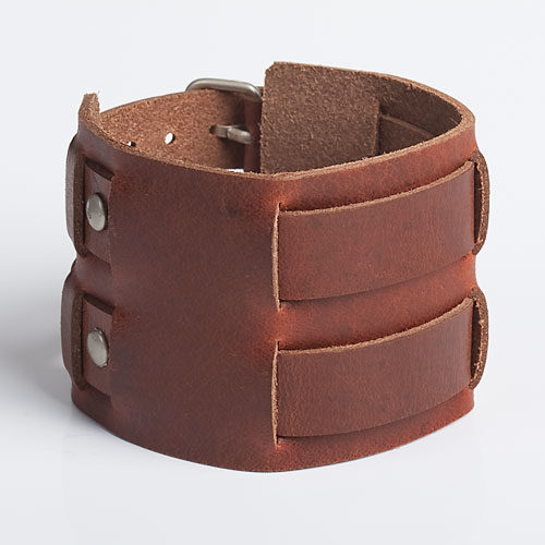 Leather-Wristband-Analine-Tan