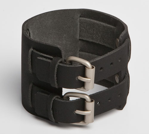 COURANTE | Black Tan Leather Wristband