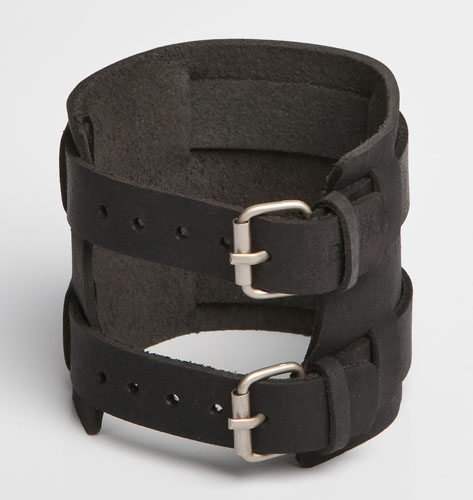 Leather-Wristband-Black-117-Back