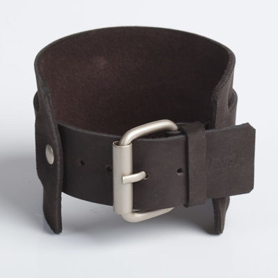 UNCLEAN CHARISMA | Black or Tan Leather Wristband