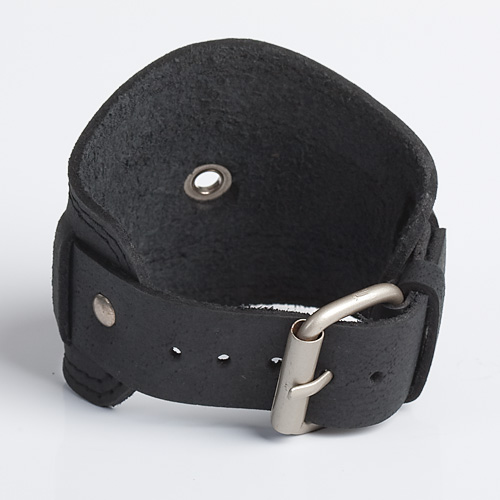 RINGLET | Black or Brown Leather Wristband