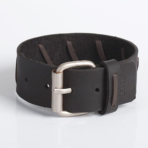 Black Leather Wristband