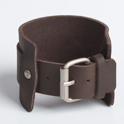 UNCLEAN CHARISMA | Brown or Tan Leather Wristband