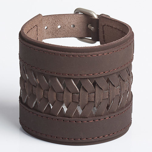 WESTERN BRAID | Brown or Tan Leather Wristband