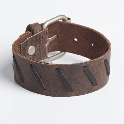 Leather-Wristband-Brown-Black