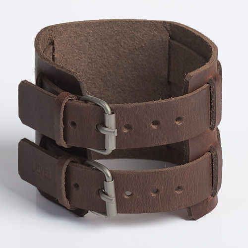 COURANTE | Brown Tan Leather Wristband